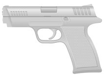 Silver pistol Stock Image