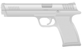 Silver pistol 2 Royalty Free Stock Photos