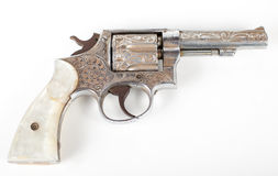 Silver pistol Royalty Free Stock Image