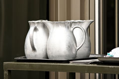 Silver Pitchers Royalty Free Stock Photos