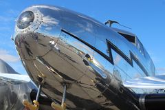 Shiny airplane royalty free stock images