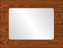Silver plaque Stock Image