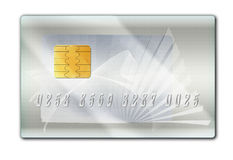 Silver plastic bank card. Map banking plastic silver (platinum) (illustration, graphic design Stock Photography