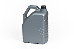 Silver plastic jerrycan Stock Images