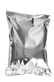 Silver plastic packaging food. With Clipping path Stock Photos