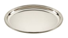 Silver plate Stock Image