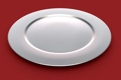 Silver plate Stock Images