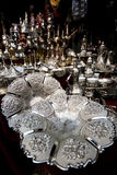 Silver plate Royalty Free Stock Image
