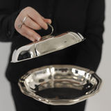 Silver plate Stock Photography