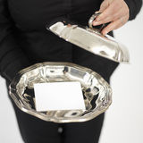 Silver plate Stock Photos