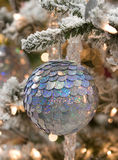 Silver Plate Christmas Ornament Royalty Free Stock Photo