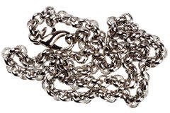 Silver plated chain Stock Photography