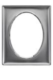 Silver plated photo frame Royalty Free Stock Images