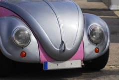 Silver Plated and Pink Beetle Stock Photography