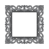 Silver Plated Wooden. Baroque picture frame to put your own pictures in Royalty Free Stock Photo