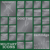 Silver plates military icons Stock Photography