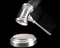 Silver or Platinum gavel Stock Images