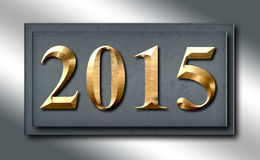 2015 Silver Platinum Gold Sign Slide Stock Photos