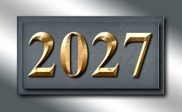 2027 Silver Platinum Gold Sign Slide Stock Photography