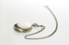 Silver pocket watch Stock Photos