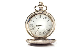 Silver pocket watch Royalty Free Stock Image