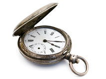 Silver pocket watch Stock Photo