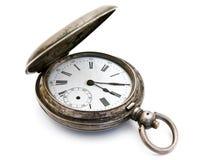 Silver pocket watch Stock Photo