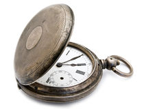 Silver Pocket Watch Stock Photography
