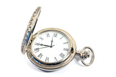 Silver pocket watch Stock Images