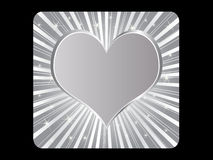 Silver poker element - heart Royalty Free Stock Photos