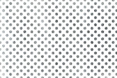 Silver polka dot background. Stock Photo