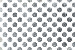 Silver polka dot background. Stock Photography