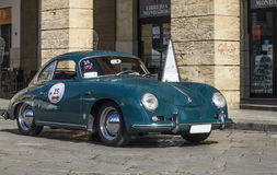 Classic porche 911. On the road porche 911 1960 vintage Royalty Free Stock Image