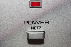Silver power button Royalty Free Stock Images