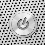 Silver power button Royalty Free Stock Image