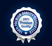 Silver Premium Quality Badge Stock Photo