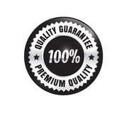 Silver Premium Quality Badge. Silver Premium high quality money back guarantee badge Royalty Free Stock Photography