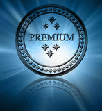 Silver premium stamp Stock Photos