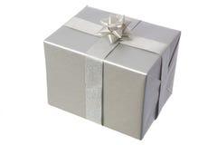 Silver,present Stock Photo