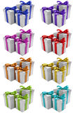 Silver present set 1 Stock Photo