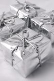 Silver presents Royalty Free Stock Photo