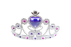 Silver Princess Crown Isolated. Child's crown/tiara isolated on white Royalty Free Stock Photo