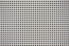 Silver protective speaker grille Royalty Free Stock Image
