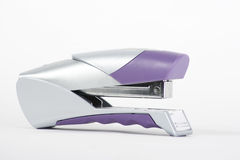 Silver/Purple Stapler Royalty Free Stock Images