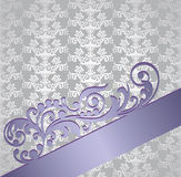 Silver and purple victorian style floral book cover Stock Photos