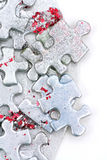 Silver puzzle background Royalty Free Stock Image