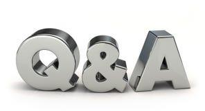 Silver Q&A. 3D illustration Stock Photos