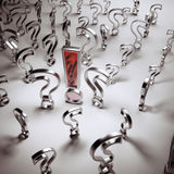 Silver questions and red answer Royalty Free Stock Images