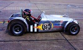 Silver Race Car Stock Photography