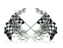 Silver Racing Emblem Stock Photography